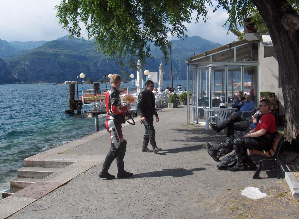 Vi besøker Gradasjøen, mens Christian og Kåre kjører tur retur Brennerpasset