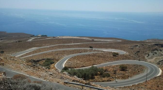 Til Kreta på glatte veier.
