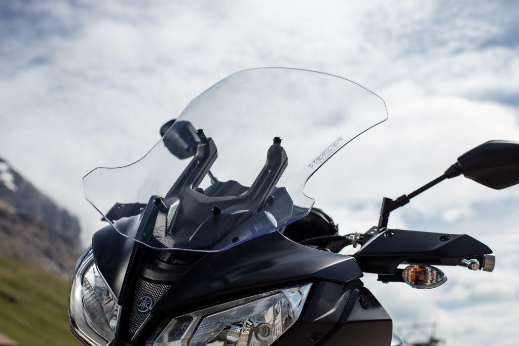Ekstra stor vindskjerm kan kjøpes som ekstrautstyr