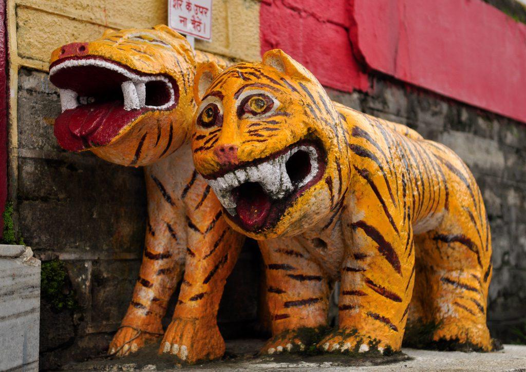 Disse finner du i Bhimakali tempelet. Her foregikk menneskeofring helt frem til 1700 tallet