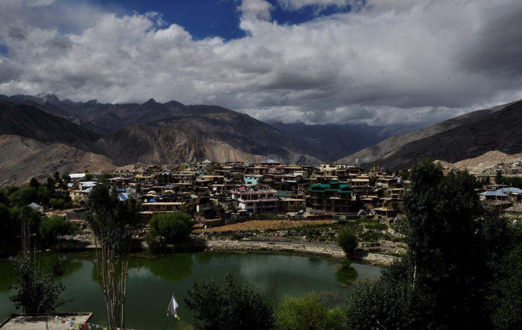 Bilde fra en landsby oppe i høyden hvor vi spiste lunsj