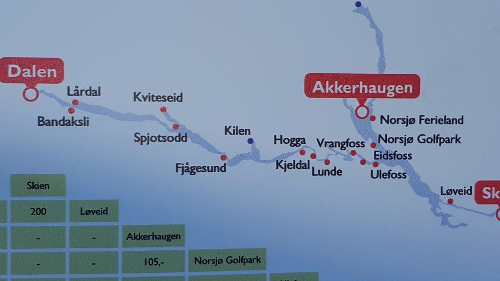 Det er muligheter for mange stopp langs Telemarkskanalen. Hele 105 kilometer strekker den seg inn i landet.